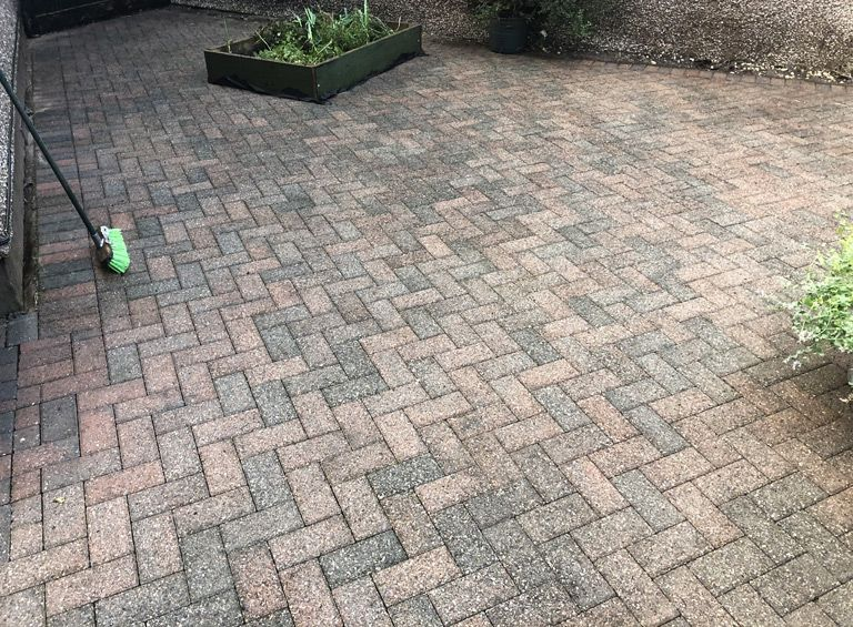 after pressure wash patio service gyffin conwy