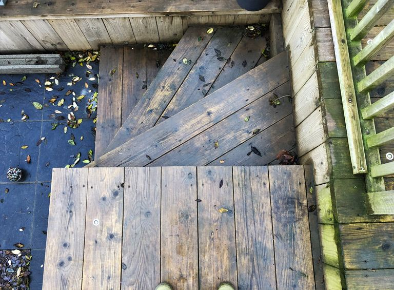 before decking cleaning conwy jet washing service